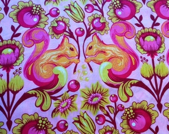 RARE Quilting Cotton Tula Pink Birds and Bees Squirrels