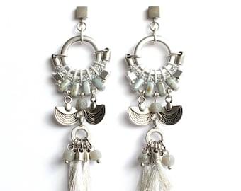 CAJAMARCA silver statement earrings