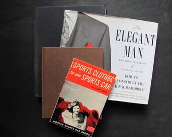SALE 3 Men's Fashion Books, 20th century Mens Fashion Topics, Tailoring History