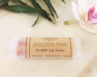 Tinted Lip Balm • Golden Pink Lip Tint •  Natural Lip Balm • Earth Mineral Cosmetics •