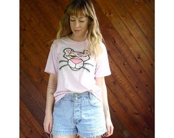 20% off SUMMER SALE. . . Pink Panther Distressed Graphic Tee Shirt - Vintage 90s - S