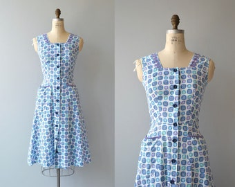 Seafarer dress | vintage 1950s dress | cotton 50s day dress