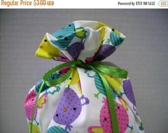 SALE Gift Bag Easter Chicks on White