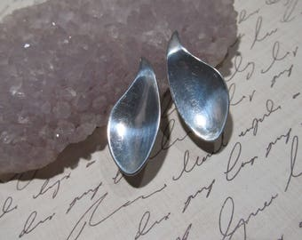 Vintage ORB Robert Otto Sterling lever back clip-on  Earrings  8d42