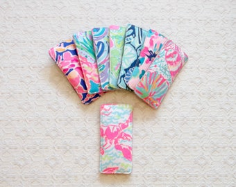 Preppy Lilly Colorful Fabric Reading Glasses Case 8 Colors