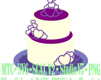 Wedding Cake #02 Cut Files MTC SVG SCAL Format and more traceable