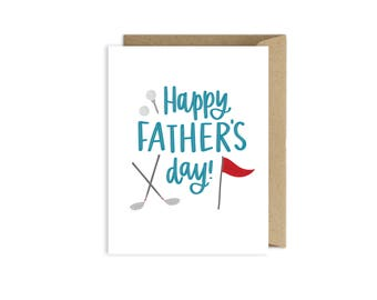 Golf Fathers Day Card