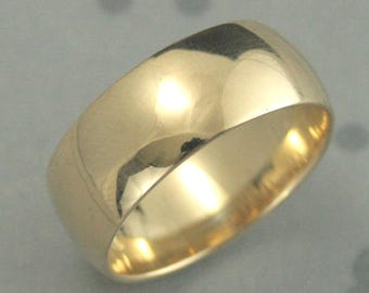 wide gold bandmens wedding ring8mm wide band8mm wide ring - Wide Band Wedding Rings
