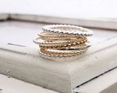 Stacking Rings . Stackable Rings . Dainty & Regular . Stacking Ring . Beaded . Twist . Hammered . Brag About It . Brag Band