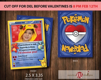 Valentine Pokemon Inspired Cards Pokecards Photo Card