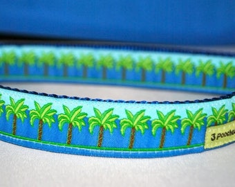 Palm Tree Dog Collar / Key West Palm Tree / Beach and Nautical