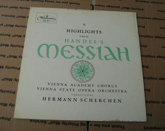 1960s highlights from Handel's Messiah conducted by Hermann Scherchen 33-1/3 rpm vinyl on westminster # XWN-18676