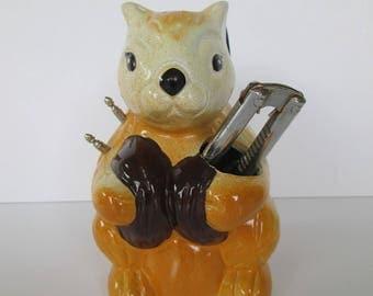 Whimsical Squirrel Nutcracker Set