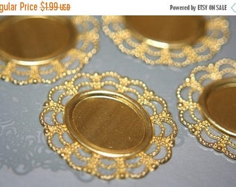 SUMMER CLEARANCE CLOSEOUT Sale - Victorian Cameo Filigree Settings - 10pcs