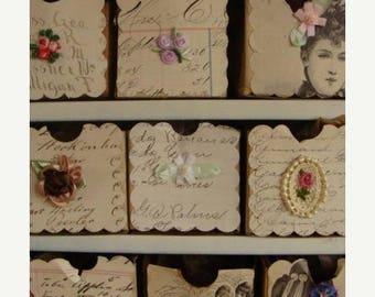 ONSALE Vintage Silk Ribbon Venice Embroidery Luxurious Appliqué Series 9pc lot Vintage Embellishment Flowers