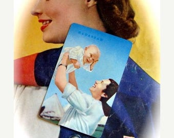 ONSALE Vintage Rare Nurse Holding Baby Playing Card Lot