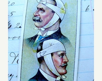 ONSALE 100 Year Old Antique Medical First Aid Collector Cards Lot of 3