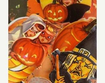 ONSALE Vintage Halloween Dennison Gummed Seals N0 9