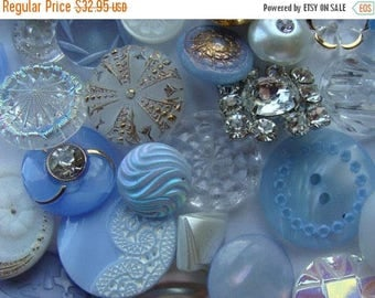 ONSALE 3 Dozen Antique Buttons Vintage Glass Buttons Rhinestone Wedding Button Jewelry Collection Lot N0 477