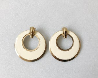 Tolhurst earrings / enamel earrings / 80s hoop earrings