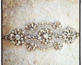 SALE 20% Crystal Wedding Sash, Wedding Sash, Bridal Belt, Bridal Sash, Crystal Sash, Crystal Belt, Beaded Sash, Rhinestone Sash, Sash