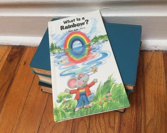 What is a Rainbow Book 1983 Children's Book Vintage White Hardcover