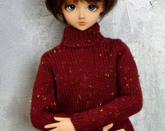 1/3 SD BJD sweater Craneberry