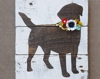 CUSTOM dog lab sign