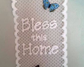 Bless this Home in Lace Wallhanging