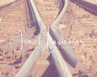 Train Tracks Crossing Photography Print