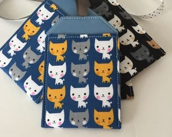 Cat Luggage Tag, Cute Kawaii Kittens, Travel Gift, Travel Accessory, Bag Tag, Backpack Tag, Luggage Tag Holder, Luggage Tag, Gift for trip