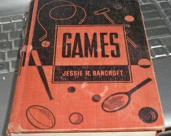 SALE Games by Jessie H. Bancroft Book 1945