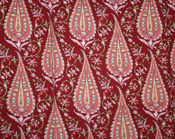 Amy butler love cypress paisley in wine cotton quilting fabric destash