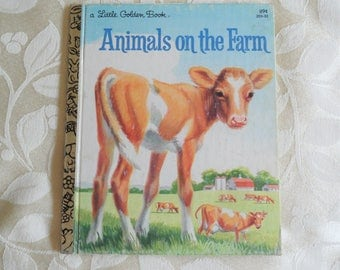 A Little Golden Book Animals On The Farm By Jan Pfloog 1981