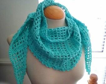 Women Summer Scarf Light and Lacy Cotton Triangular Baktus Scarf