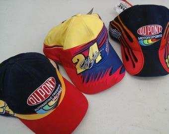 Chase Jeff Gordon Dupont Hendrick Motorsports Race Cap Trio '95 - '97