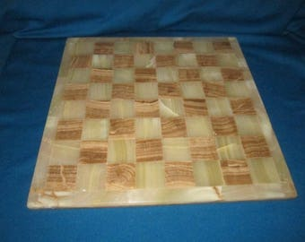 Vintage Beautiful Chess Checkers Game Board