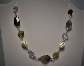 Multi-gemstone Sterling Silver Necklace
