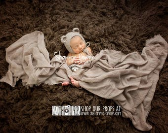 Brown Newborn Photo Props, Baby Boy Photography Props, Fabric Layers, Newborn Wrap, Baby Photo Prop, Baby Boy Blanket, Foyer Checkered Wrap