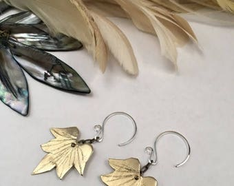 End of Summer SALE Lotus Blossom Earrings - Copper, Bronze or Sterling