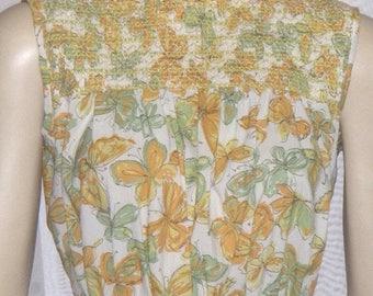 SUMMER SALE Vintage 1950's Butterfly Women's Day Dress Small Medium