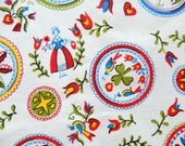 """vintage tablecloth, Hex Signs, PA Dutch, 54"""" x 50"""" oblong, table linens, unused"""