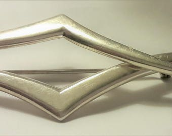 Vintage Sterling Silver Modernist Pin Brooch Mexico T 2-15 .925