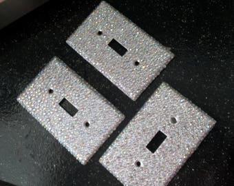 Vintage GLITTER singleToggle Light Switch Plate