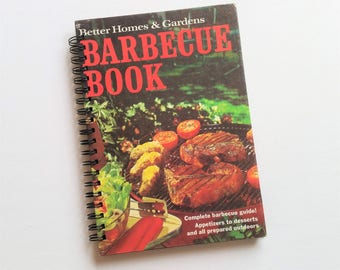 Barbecue Book, 1967, Recycled Book Journal & Notebook