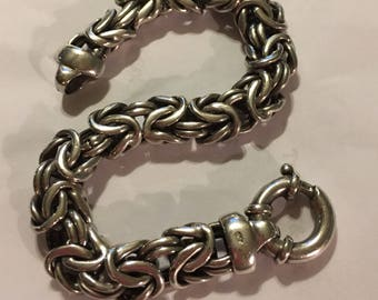 Vintage Sterling Silver Byzantine Bracelet