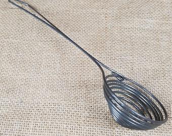 Vintage kitchen ware metal wire egg separator gadget utensil rustic primitive