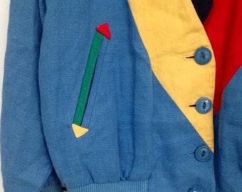 40% OFF The Multicolor Trim Linen Cardi Jacket
