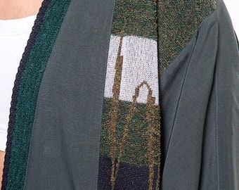 40% OFF The Vintage Silk Forest Green Wrap Cardigan