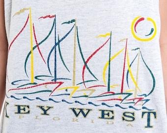 40% OFF The Vintage Key West Florida Heather Grey Tank